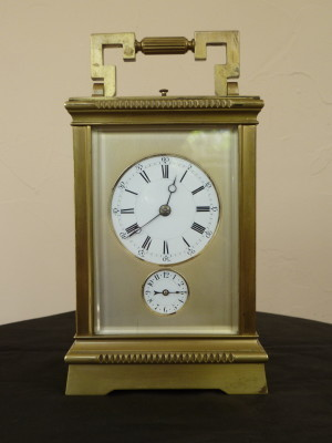 English Brass Carriage Clock with Alarm.